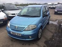 CITREON C3IN VGCONDITION LOVELY DRIVER RARE 5 DOOR HATCH IN LOVELY METTALLIC BLUE ANY TRIAL
