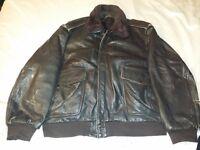MACDOUGLAS vintage MA2 brown leather flying jacket