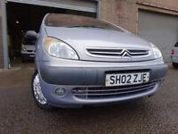 02 CITROEN XSARA PICASSO 2.0 DIESEL,MOT JUNE 017,PART HISTORY,2 OWNER FROM NEW,2 KEYS,VERY RELIABLE