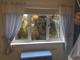 Pale blue/ white Swarovski curtains