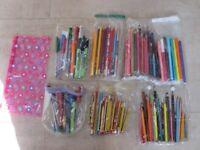 Stationery - Assortment - Pens, Pencils, Felt Tips, Paper - School or Home