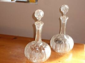 Crystal glass Port and Sherry decanters - excellent condition