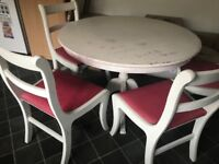 Solid wood round table and chairs set