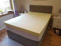 Double memory foam mattress topper orthopaedic 4 inches (10 cm)