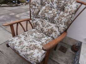2 Ercol style Vintage armchairs. .