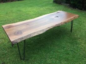 Waney Edge Elm Coffee Table