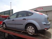 BREAKING FORD FOCUS MK2 TONIC BLUE - ALL SPARES AVAILABLE - DOOR? BUMPER? GEARBOX? HUB? MIRROR?