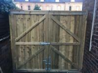 Garden gates wooden gate timber gate