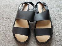Brand new black sandals size 3
