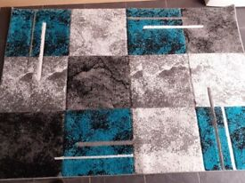 Teal large rug 68inches by 48 inches