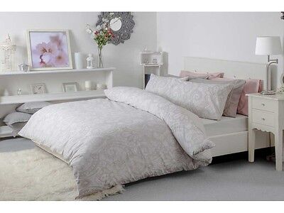 Reversible Paisley India Design Duvet Cover Set in Blush Pink King Bed Size