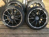 """18"""" DARE ALLOYS & TYRES. 5 STUD MULTI FIT. CAME OFF VAUXHALL"""