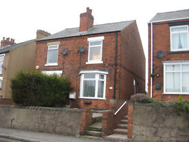 New Whittington, Chesterfield, Derbyshire. two bed semi detached with front and enlosed back garden