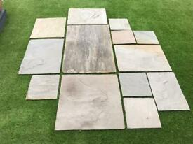 Indian sandstone slabs Marshalls paving