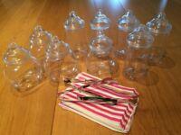 Plastic Sweet Jars, paper bags & tongs
