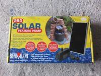 unused pond pump solar feature