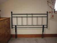 DOUBLE BLACK METAL HEADBOARD
