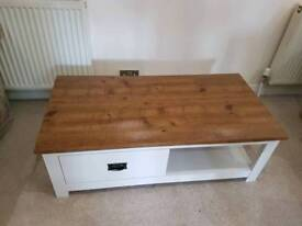 BRAND NEW White and oak coffee table