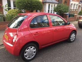 NISSAN MICRA 2004 MODEL, 5 DOOR AUTOMATIC , TWO KEYS IN EXCELLENT CONDITION