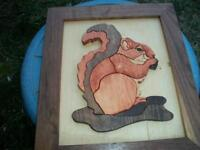wood carved squirrel  picture