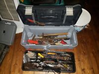 Heavy Duty Large Tool Box with Various Tools Job Lot