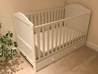 Kiddi Couture Cot Bed with storage drawer