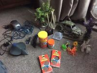 Aquarium Extras, food, holiday food, decorations, pump, filter and net