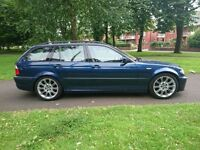 Clean 2004 BMW e46 325i M Sport Touring Estate Petrol Blue