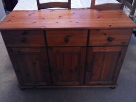 Pine sideboard, excellent condition