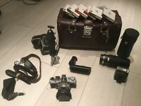 Olympus OM1 and accessories