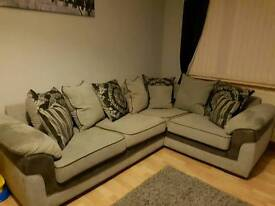 Corner sofa grey fabric