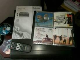 Multi cd player 110+1 disk amp speakers