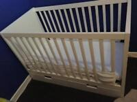 Ikea Cot Bed with 2 Mattresses and 2 fixed drawers