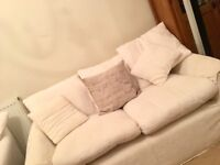 Two white sofas