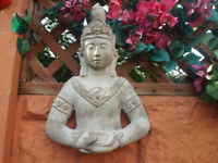 Concrete Buddha Bust/Tea Light Holder – Garden Ornament