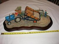 Limited Edition Farm Scene figurine - Farmer & Tractor