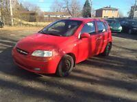 2005 Chevrolet AVEO 5 LT 1650$ TAX ET TRANSIT INCLUS 514-692-009