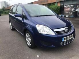 2009 vauxhall zafira 1.9 cdti exclusive with very low mileage