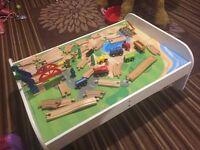 Big city lifting bridge rail play table train table