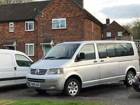 Vw transporter t5 shuttle 9 seater bus day van camper van