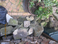 Sandstone for garden walls or rockery