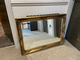 Italian gilt bevelled framed mirror-save £150!!!
