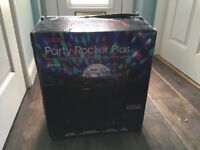 Ion Party Rocker Plus Portable Rechargeable Speaker with Spinning Party Lights
