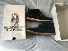 Hushpuppies Men Dark Blue Desert Boots Size 7