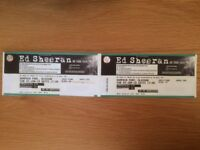 ** Ed Sheeran Tickets (x 2 SEATED) - Glasgow - Sunday 3 June 2018 **