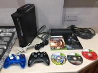 Xbox 360 120GB, 5x games & 2x controllers
