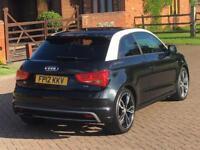 2012 AUDI A1 BLACK EDITION 2.0 TDI LOW MILES FSH S LINE £20 ROAD TAX S1 ALLOYS