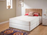 Double orthopedic bed and mattress (brand new)