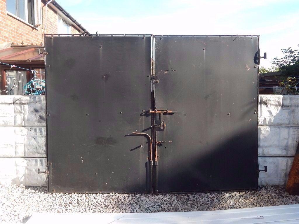 Wrought iron gates driveway garden metal