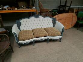 Harrods Reproduction Rococo French style Sofa
